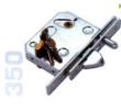 350 - Zárrendszer szabadonfutó kapukhoz, cilinder betéttel, kulcsokkal