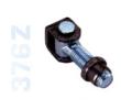 376Z - Hegeszthető, állítható forgáspont, zsanér, szárnyas kapukhoz, horganyzott