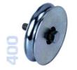 400 - Alsó, 80mm-es görgő kör alakú sínhez, toló kapuhoz