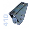 410 - Alsó, 80mmm-es, rögzítő talpas görgö, kör alakú sínhez, toló kapukhoz