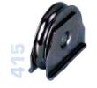 415 - Alsó, 80mm-es süllyeszthető görgő kör alakú sínhez, toló kapuhoz