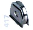 417 -  Alsó, 80mm-es süllyeszthető görgő, V alakú sínhez, toló kapukhoz