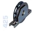 425 - Alsó, 80mm-es süllyeszthető görgő, kör alakú sínhez, toló kapukhoz