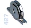 427 - Alsó, 80mm-es süllyeszthető görgő, V alakú sínhez, toló kapukhoz