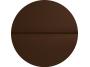 Csillag Garázskapu 2500 x2000mm-es  4 cm szigetelésű szekcionált garázskapu Barna (RAL8014) Szélesbordás + Starset MOTOR 2db távirányítóval